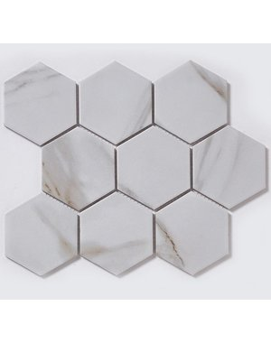 Luxury Tiles Hex Marble Mosaic Sheet