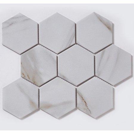 Luxury Tiles Hex Marble Mosaic Sheet