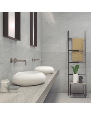 Luxury Tiles Grey Carrara Marble Effect Gloss Tile