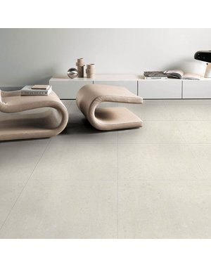 Luxury Tiles Callis White Cream 60x60cm Floor Tile