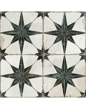 Luxury Tiles Astral Black Star Floor and Wall Tile