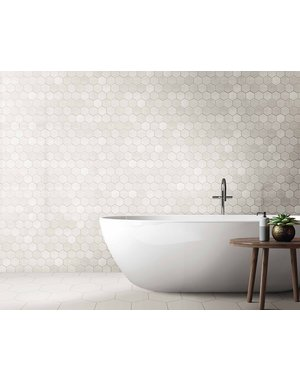 Luxury Tiles White Hexagon Galaxy Wall and Floor Tile