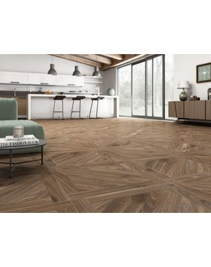 Luxury Tiles Sequoia Warm Oak Parquet Wood Effect Floor Tile