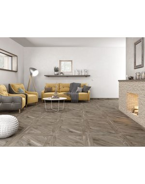 Luxury Tiles Sequoia Dark Oak Parquet Wood Effect Floor Tile