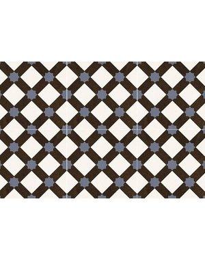 Luxury Tiles Encaustic Pearl Blue Pattern Tile 330x330mm