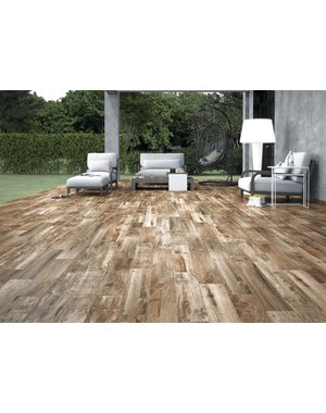 Luxury Tiles Eld Natural Deep Oak Wood Effect Tile