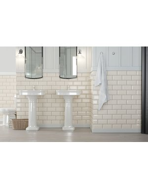 Luxury Tiles Luxe Vanilla Cream Bevelled Metro Tile 20x10cm