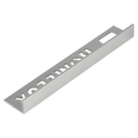HomeLux Homelux aluminium silver tile trim 10mm