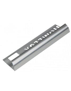 HomeLux Homelux aluminium silver 12.5mm tile trim Round Edge