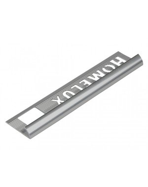 HomeLux Homelux aluminium silver 6mm tile trim Round Edge
