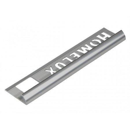 HomeLux Homelux aluminium silver 6mm tile trim Round Edge
