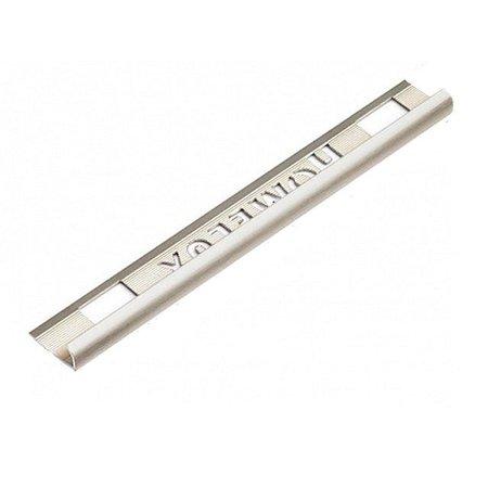 HomeLux Homelux aluminium Stainless Steel Effect 6mm tile trim Round Edge