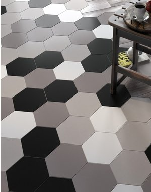 Luxury Tiles Hexagon Jet Black Tile