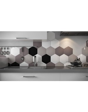 Luxury Tiles Hexagon Deep Grey Tile