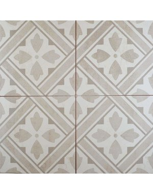 Laura Ashley Laura Ashley Mr Jones Durham Dove Beige 450x450mm Tile