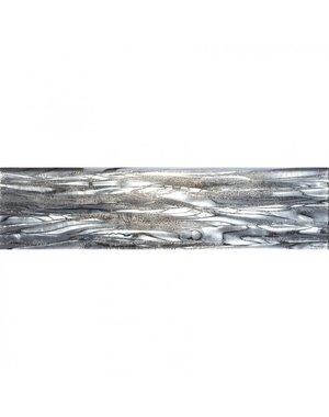 Luxury Tiles Seychelles Glass Grey 75x300mm Metro Tile