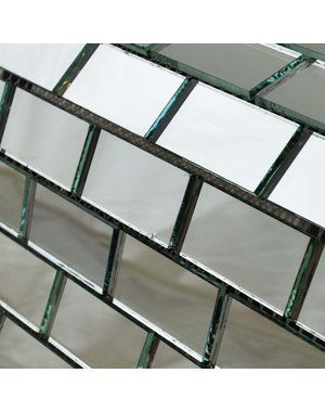 Luxury Tiles Mirrored Brick Mosaic Tile 31.5x31.5cm
