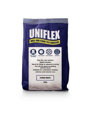Uniflex Uniflex White Wall & Floor Tile Adhesive 20kg