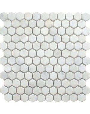 Luxury Tiles Bianco Soft Carrara Hexagon Mosaic Sheet