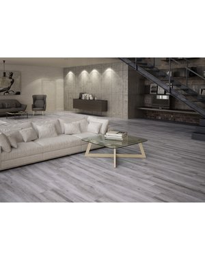 Luxury Tiles Beatrice Ash Grey Wood Effect Floor Tile 1200x233mm