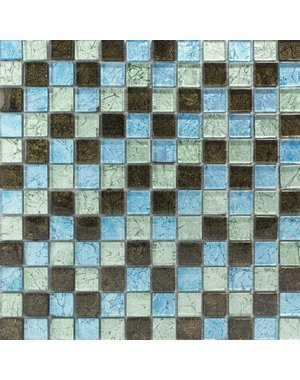 Luxury Tiles Bay Blue Glass Mosaic Wall Tile