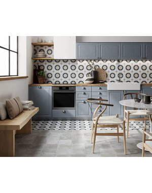 Luxury Tiles Babette Bleu Circular Geometric Tile