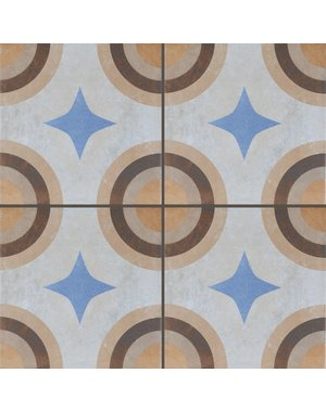 Luxury Tiles Babette Jaune Yellow Circular Geometric Tile