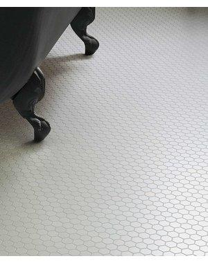 Luxury Tiles Shapes Hexagon Matt White Mosaic Tile