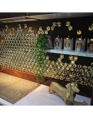 Luxury Tiles Avatar Gold Hexagon mosaic tile