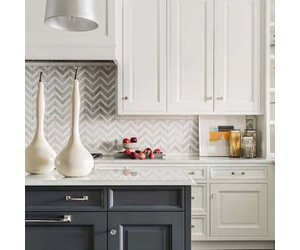 Hamptons Chevron Marble Mosaic Tile Luxury Tiles