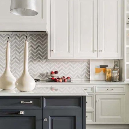 Luxury Tiles Hamptons Chevron Marble Mosaic Tile