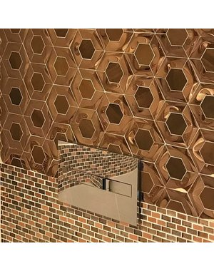 Luxury Tiles Brushed Gold Hexagon Mosaic Tile