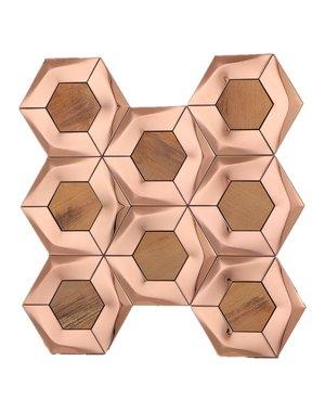 Luxury Tiles Brushed Gold Hexagon Mosaic Tile