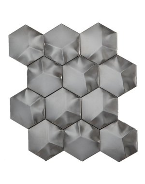 Luxury Tiles Avatar Black Hexagon mosaic tile