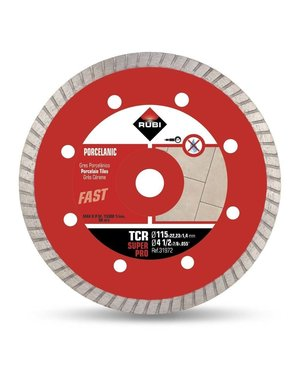 "Rubi Tools CR 4 115 mm 1/2"" Porcelain Tile Diamond Blade"