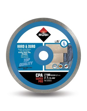 Rubi Tools CPA 180mm Hard Materials Diamond Blade