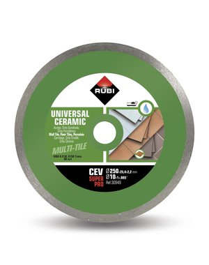 "Rubi Tools CEV 250mm 10"" Wet Ceramic Tile Diamond Blade"