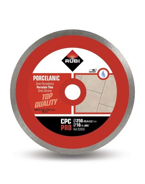 "Rubi Tools CPC 250mm 10"" Porcelain Tile Diamond Blade"