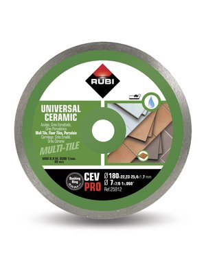 Rubi Tools CEV 180 Pro Ceramic Tiles Diamond Blade