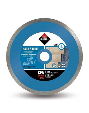 Rubi Tools CPA 250mm Super Pro Hard Materials Diamond Blade