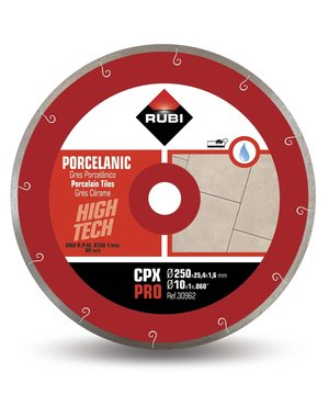 Rubi Tools CPX 250mm Porcelain Tile Diamond Blade