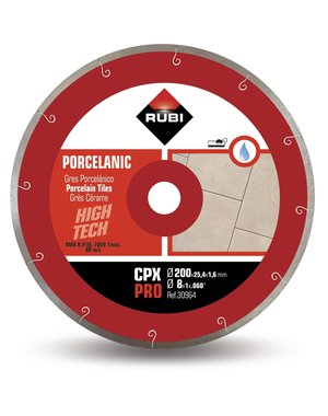 Rubi Tools CPX 200mm Porcelain Tile Diamond Blade