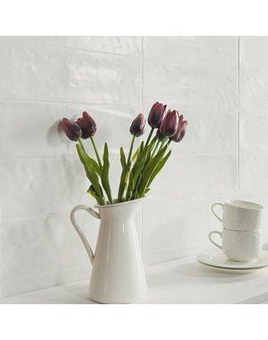 Luxury Tiles Artisan White Metro Wall Tile 100x300mm