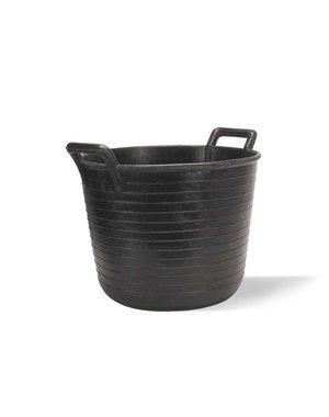 Rubi Tools Plastic tub Black 40Ltr