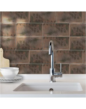 Luxury Tiles Rustic Copper Decor Metro Tile 100x300mm