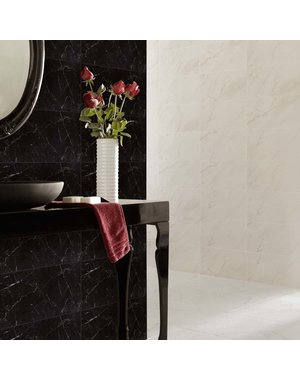 Luxury Tiles Velar Black Polished Marble Effect Tile