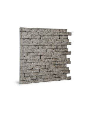 Luxury Tiles DIY Grey Split Face Effect 3D Wall Tile