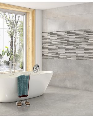 Luxury Tiles Calgary Concrete Grey Stone Effect Tile 450x450mm