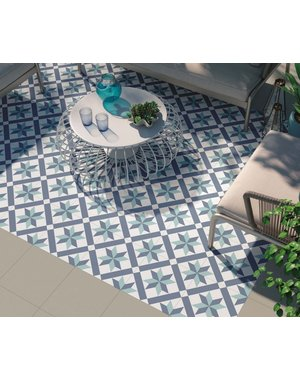 Luxury Tiles Nordic Blue Pattern Wall and Floor Tile
