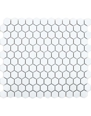 Luxury Tiles Microhex White